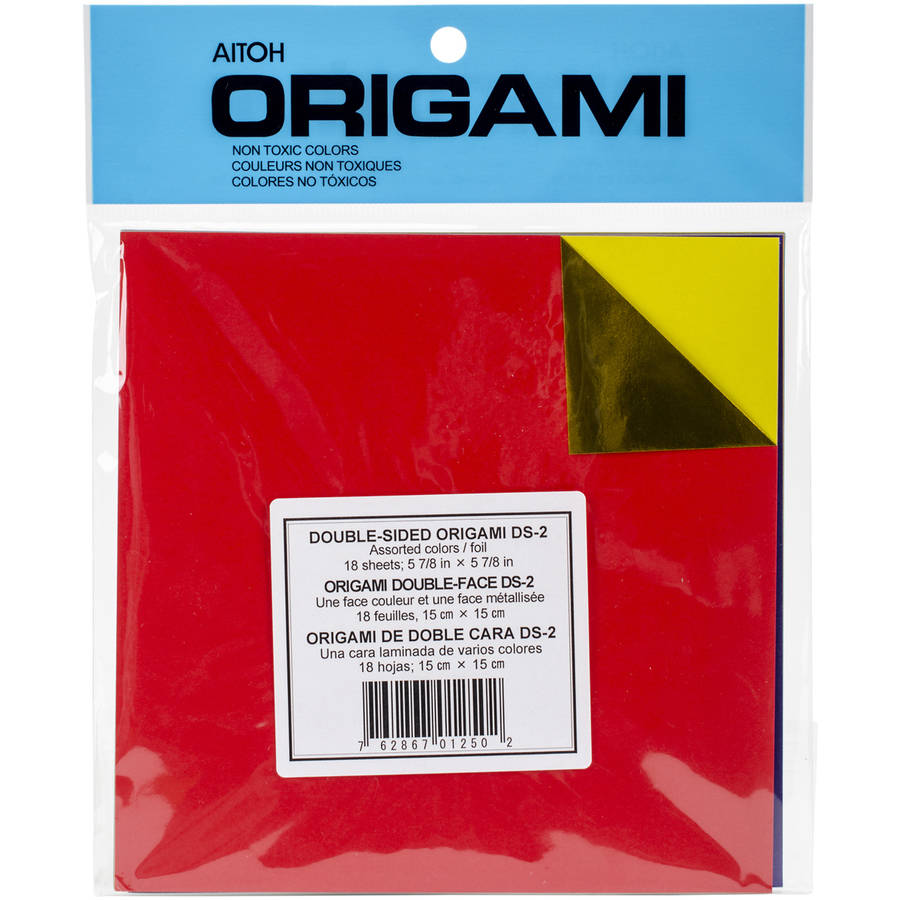 "Origami Paper, 5.875"" x 5.875"", 18 Sheets, Assorted Colors Double-Sided Foil"