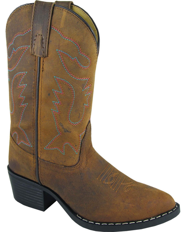 Smoky Mountain Kid's Dakota Brown Leather Western Boots 3530
