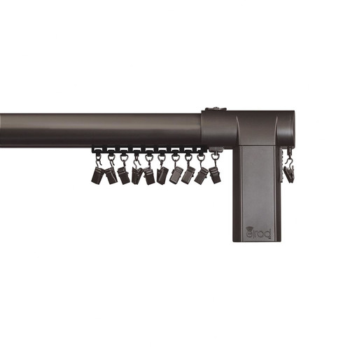 Beme International Motorized Erod Center Open Single Curtain Rod and Hardware Set by Beme International