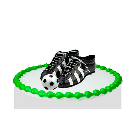 Soccer Cleats & Ball Cake Decoration Topper](Soccer Cake Toppers)