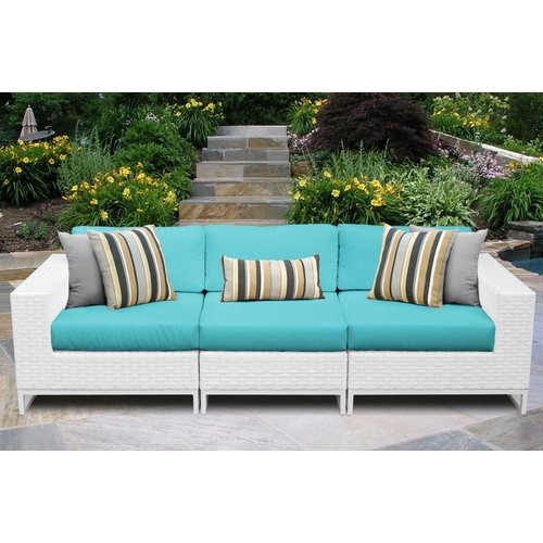 TK Classics Miami Left/Right Armless Sectional Piece with Cushions