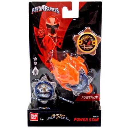 Power Rangers Power Up Silver & Gold Ninja Power Star 2-Pack with Launcher - Gold Ranger