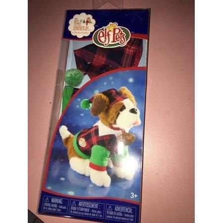 Elf on the Shelf Claus Couture Playful St Bernard PJs Doll, Green Pet](Green Elf Off The Shelf)