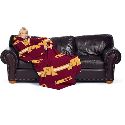 NCAA Minnesota Golden Gophers Comfy Throw, Stripes
