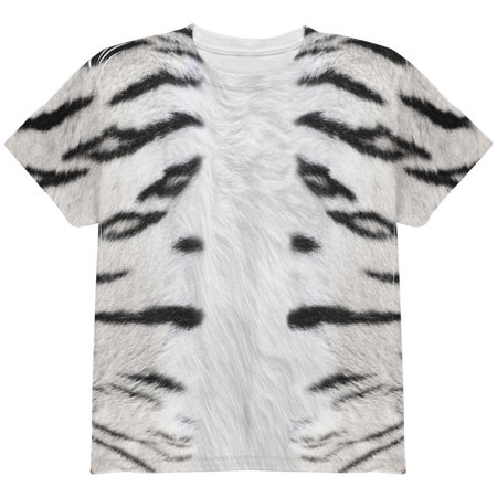 Siberian Tiger Snap (Halloween White Siberian Tiger Costume All Over Youth T Shirt )