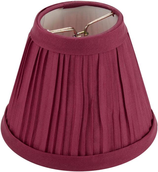"Pleated Cloth Covered Lamp Shade-Burgundy 2.5""X4""X5"""