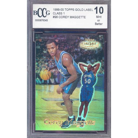 - 1999-00 topps gold label #98 COREY MAGGETTE rookie BGS BCCG 10