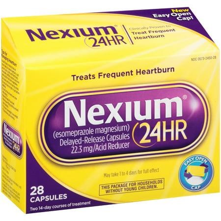 Nexium 24Hr Delayed Release Heartburn Relief Capsules  Esomeprazole Magnesium Acid Reducer  22 3Mg  28 Count
