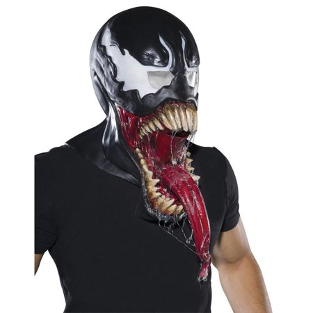 Venom Spider Man Adult Size FULL Overhead Latex Costume Mask Marvel Comics - Spiderman Masks