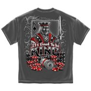 Poker T-Shirt Good To Be King Charcoal