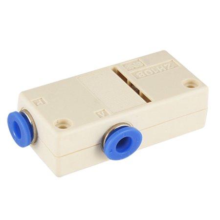 Metal Air Connector (Unique Bargains 6mm Connector Plastic Box Type Air Vacuum Generator New )