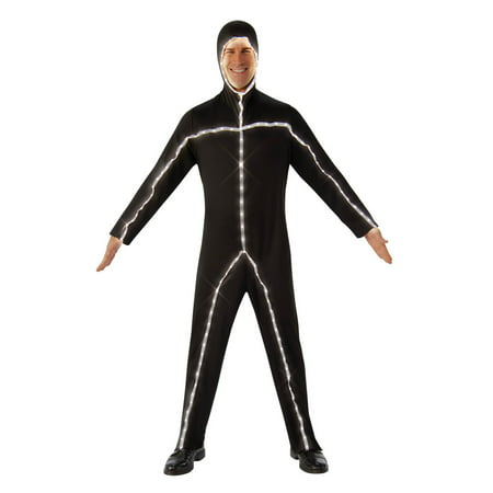 Light Up Stickman Halloween Costume (Light Up Stick Man Adult)