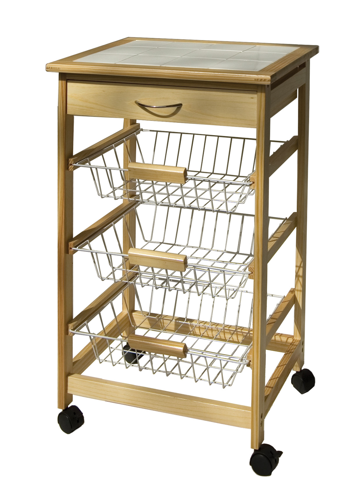 Delicieux Organize It All Kitchen Cart With 3 Baskets   Walmart.com