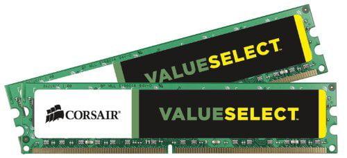 Corsair ValueSelect 16GB DDR3 SDRAM Memory Module - 16 GB (2 x 8 GB) - DDR3 SDRAM - 1333 MHz DDR3-1333/PC3-10667 - Unbuffered - 240-pin DIMM