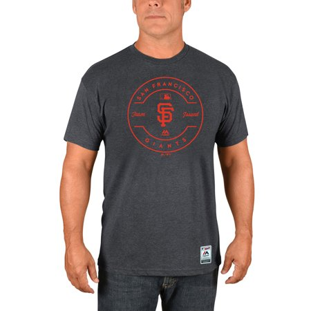 Swan Club (San Francisco Giants Majestic Authentic Collection Clubhouse Team Issue T-Shirt - Heathered Charcoal )