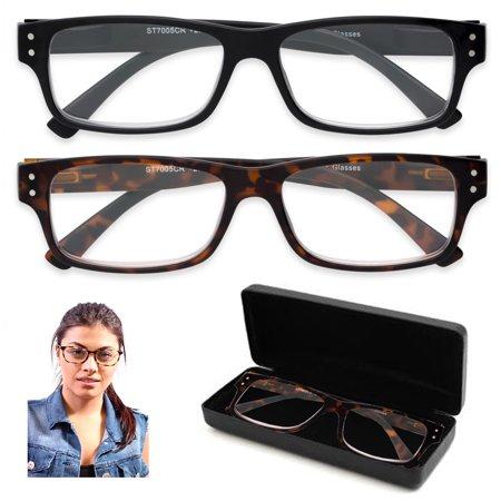 1 Pair Reader Glasses 1 Case Anti-Reflective Blue Blocking Computer Reading Lens 10 Pair Reading Glasses