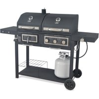 Backyard 557 sq in Dual Gas Charcoal Grill