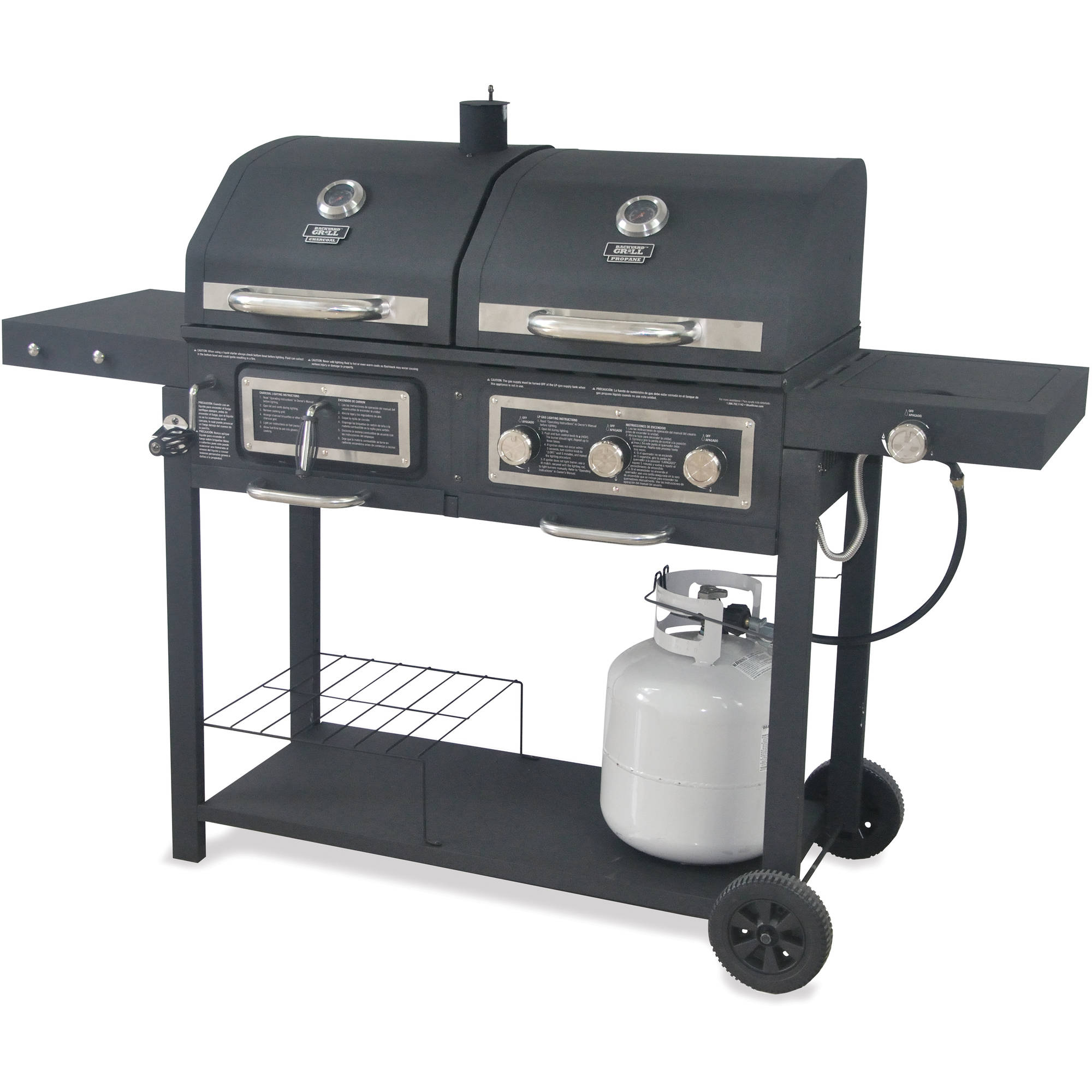 Merveilleux Backyard Grill Dual Gas/Charcoal Grill