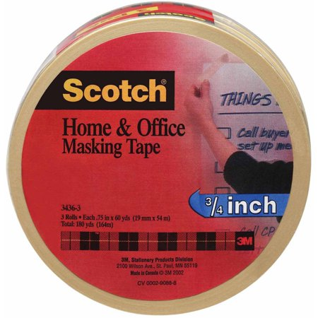 Scotch Home and Office Tape, 3 Pack, .75