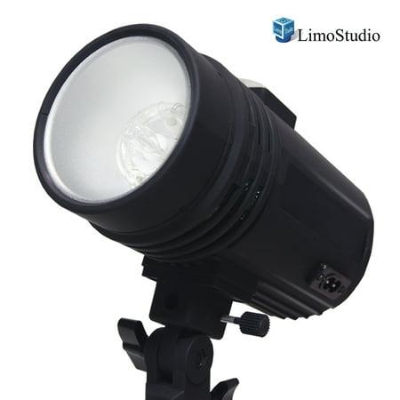 200 Watt Studio Flash/Strobe Light, Fuse, Test Button, Wireless Triggering Available, Umbrella Input, Mount on Light Stand, Professional Photography Use, Photo Studio, WMLS4404