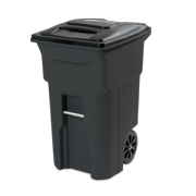 Toter 64 Gal. Trash Can Black with Wheels and Lid