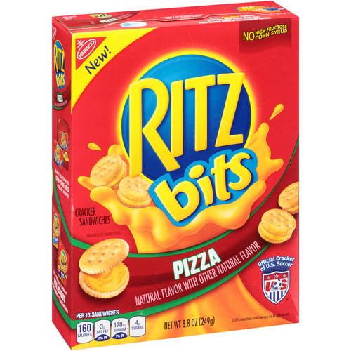 Nabisco Ritz Bits Pizza Natural Flavor Cracker Sandwiches, 8.8 Oz.