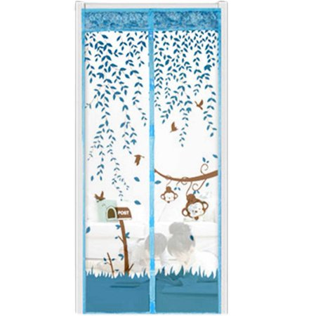 Magnetic Screen Door- Keep Bugs Out No More Mosquitos or Flying Insects Mesh with Top-to-Bottom Seal