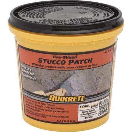 1 quart quikrete pre mixed stucco patch for Quikrete exterior stucco patch