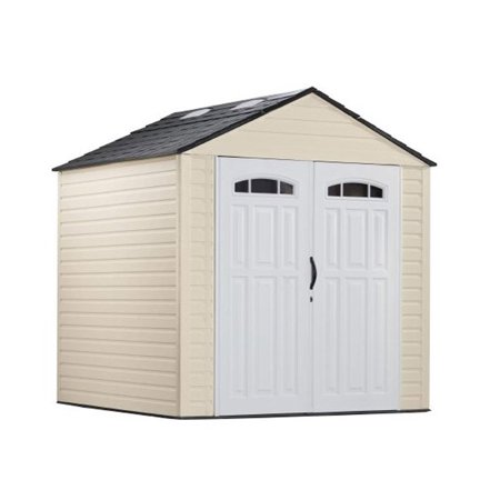 rubbermaid 7x7 feet x large 325 cubic feet outdoor storage shed 5h80 walmartcom - Garden Sheds 7x7