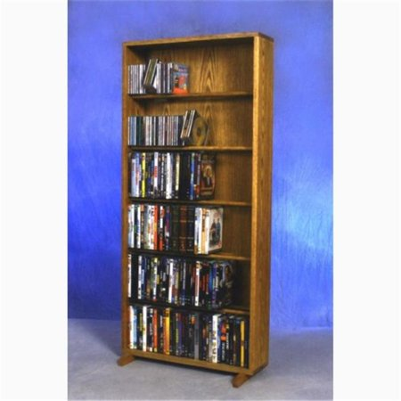 Wood Shed 615-24 Combo Solid Oak 6 Row Dowel CD-DVD Cabinet Tower