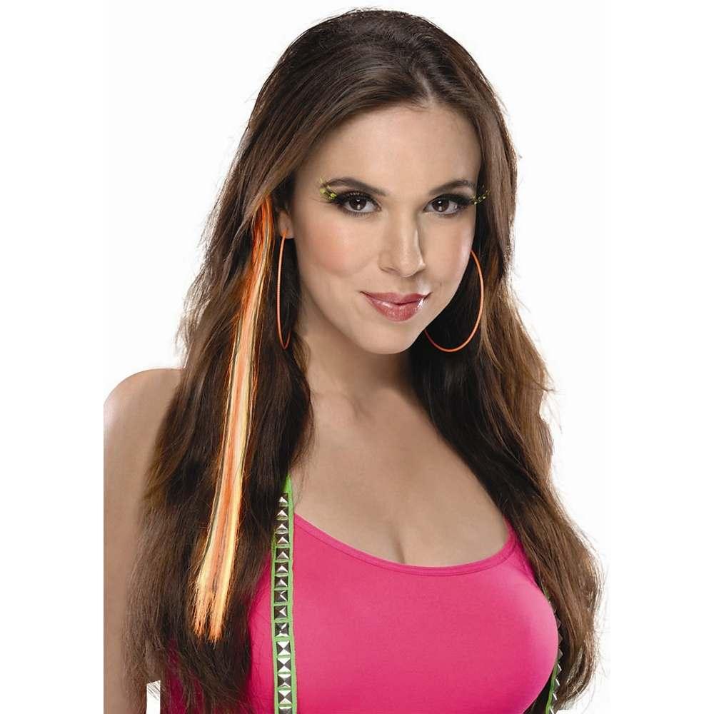 Neon Orange Clip-In Hair Extension