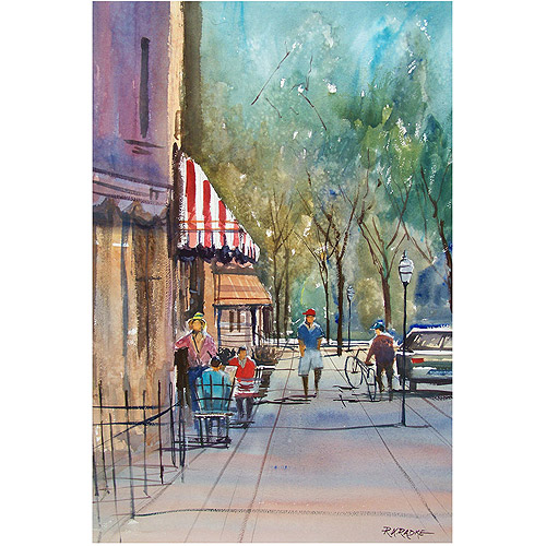 "Trademark Art ""Summer in Cedarburg"" Canvas Art by Ryan Radke"