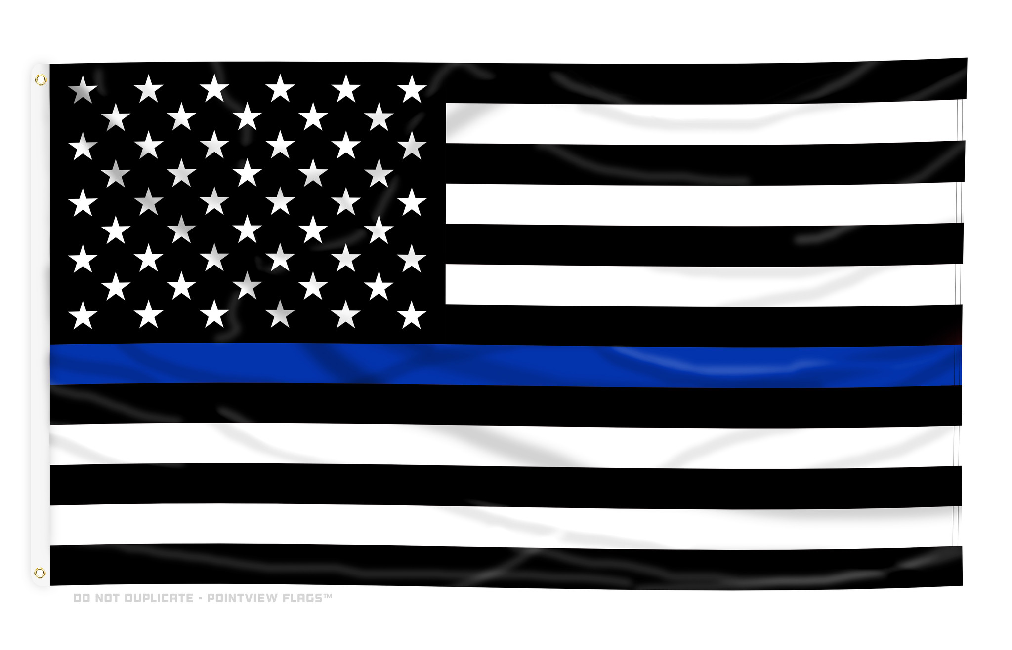Thin Blue Line American Flag, 4 ft x 6 ft Polyester