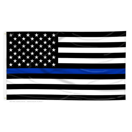 Thin Blue Line American Flag  4 Ft X 6 Ft Polyester