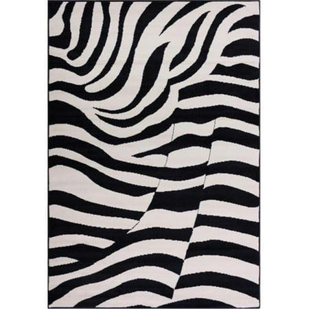 Nittany Lions Rug - Well Woven Miami Lion Animal Print Area Rug, Black, 5' x 7'