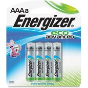 Eveready Battery Co Inc Eco-Advanced AAA Batteries, 24PK/CT, Silver/Black XR92BP8CT