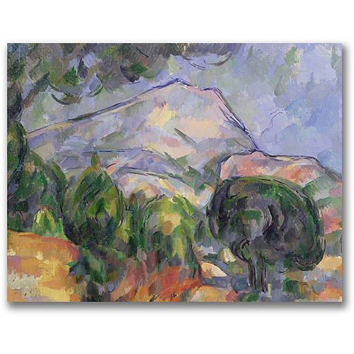 "Trademark Fine Art ""Montagne Sainte-Victoire II"" Canvas Wall Art by Paul Cezanne"