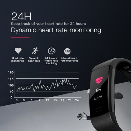 Fitness Tracker w/ Heart Rate Monitor, Waterproof Activity Tracker Watch Color Screen Smart Band with Blood Pressure Oxygen Sleep Monitor For Women Men - image 11 of 13
