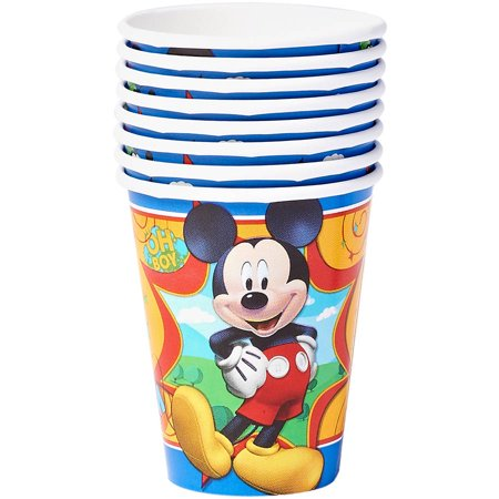 Mickey Mouse Clubhouse 9 Oz  Paper Party Cups  8 Count  Party Supplies