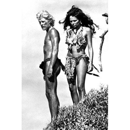 Julie Ege and Tony Bonner in Creatures the World Forgot cavegirl costume barechested 24x36 Poster - Julie Ann Art Halloween Costumes