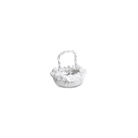 Expo Int'l Bridal/Wedding Flower Girl Satin Ruffled Basket (White Flower Girl Basket)