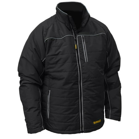 Dewalt-DCHJ075D1-2X Heated Jacket Black Quilted Kit - 2XL