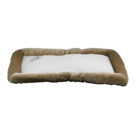 """ASPCA Extra Large Plush Crate Mat Pet Bed, 42"""" X 27"""", Taupe"""