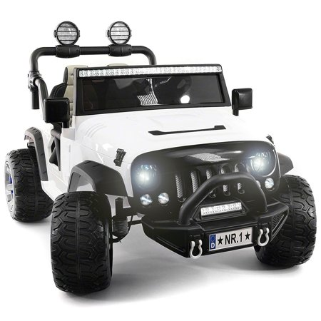 2019 Two Seater Ride On Kid S Truck 12v Children Electric Car Motorized Cars For Kids W Remote Large Capacity Battery 3 Sds Led Lights