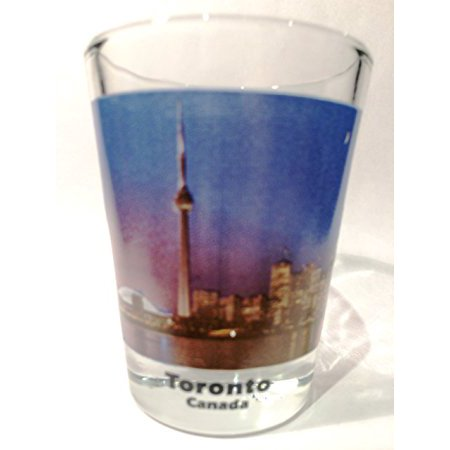 Toronto Ontario Canada City Skyline Color Photo Shot Glass