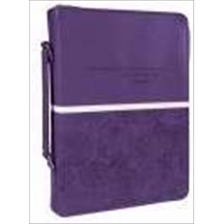 Purple Bible Cover (Christian Art Gifts 369650 Bible Cover Trendy Luxleather Jer 29 11 Medium)