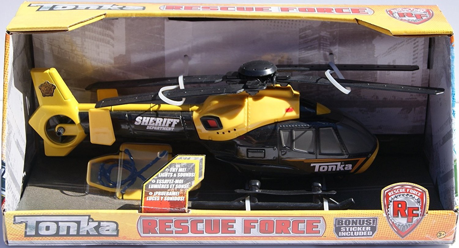 New! Rescue Force Sheriff Helicopter w  Lights and Sound! By Tonka by Hasbro, Inc