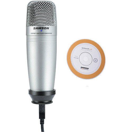 Samson C01UCW Condenser USB Microphone with Cakewalk Sonar LE by Techsmith