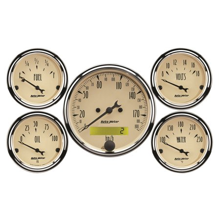 AutoMeter 1809-M Antique Beige Street Rod Kit (Street Rod Interior)