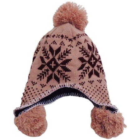 Women's Warm Knitted Beanie Beret Earflap Hat Ski Cap with - Earflap Beanie Ski Hat